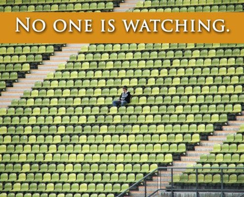 No one is watching stadium