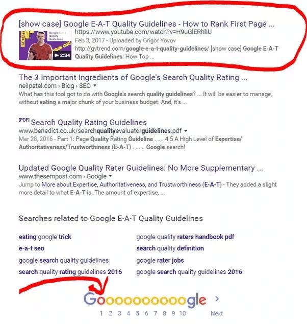 Video thumbnail on Google